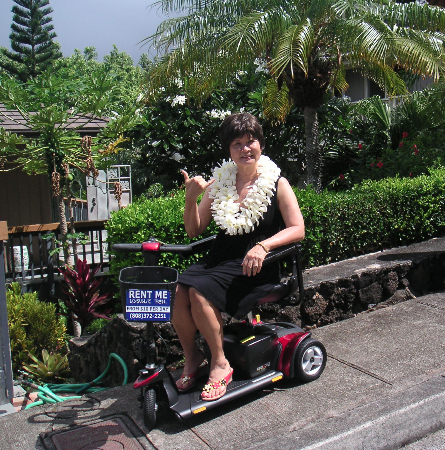 Rent mobility scooter waikiki